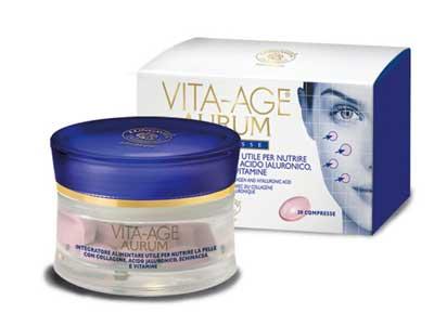 Vita Age AURUM – Anti Age Tablets  Glass Pot of 30 capsules