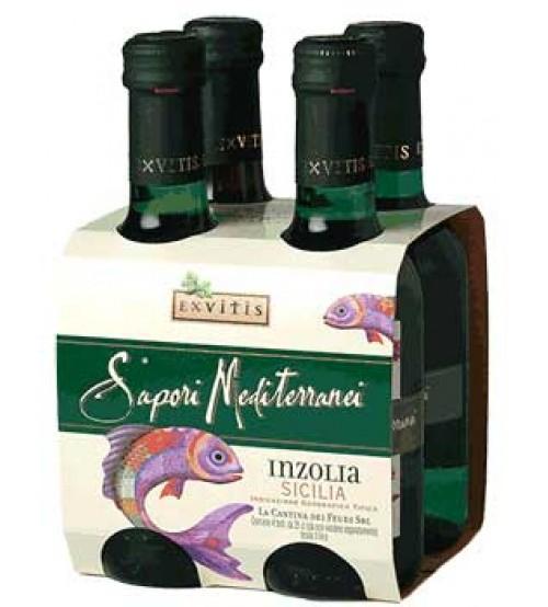 Inzolia IGT 西西里250毫升x4瓶 Sapori Mediterranei